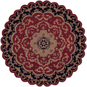 Lr Resources Shapes 10572 Red - Black Area Rug