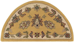 Lr Resources Shapes 10580 Gold - Ivory Area Rug