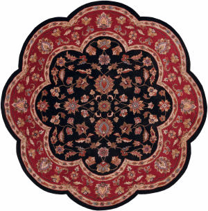 Lr Resources Shapes 10752 Black - Red Area Rug