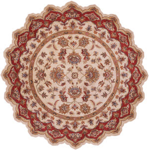 Lr Resources Shapes 10757 Ivory - Red Area Rug