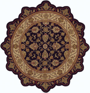 Lr Resources Shapes 50003 Black - Ivory Area Rug