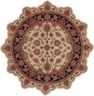 Lr Resources Shapes 50004 Ivory - Black Area Rug