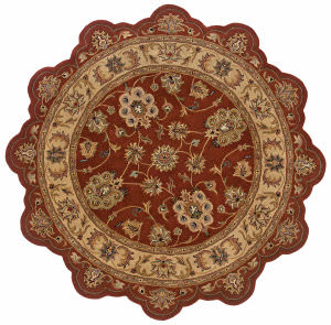 Lr Resources Shapes 50921 Rust - Gold Area Rug