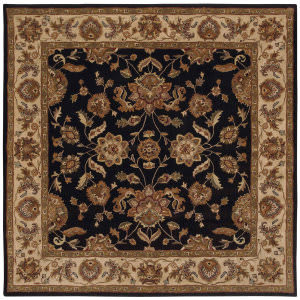 Lr Resources Shapes 5r105 Black - Ivory Area Rug