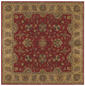 Lr Resources Shapes 5r107 Red - Gold Area Rug