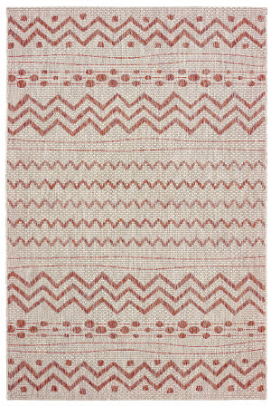 Lr Resources Sunshower 81244 Beige - Red Area Rug