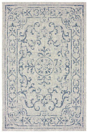 Lr Resources Sunshower 81249 Navy - Gray Area Rug