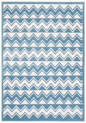 Lr Resources Whimsical 81269 White - Light Blue Area Rug