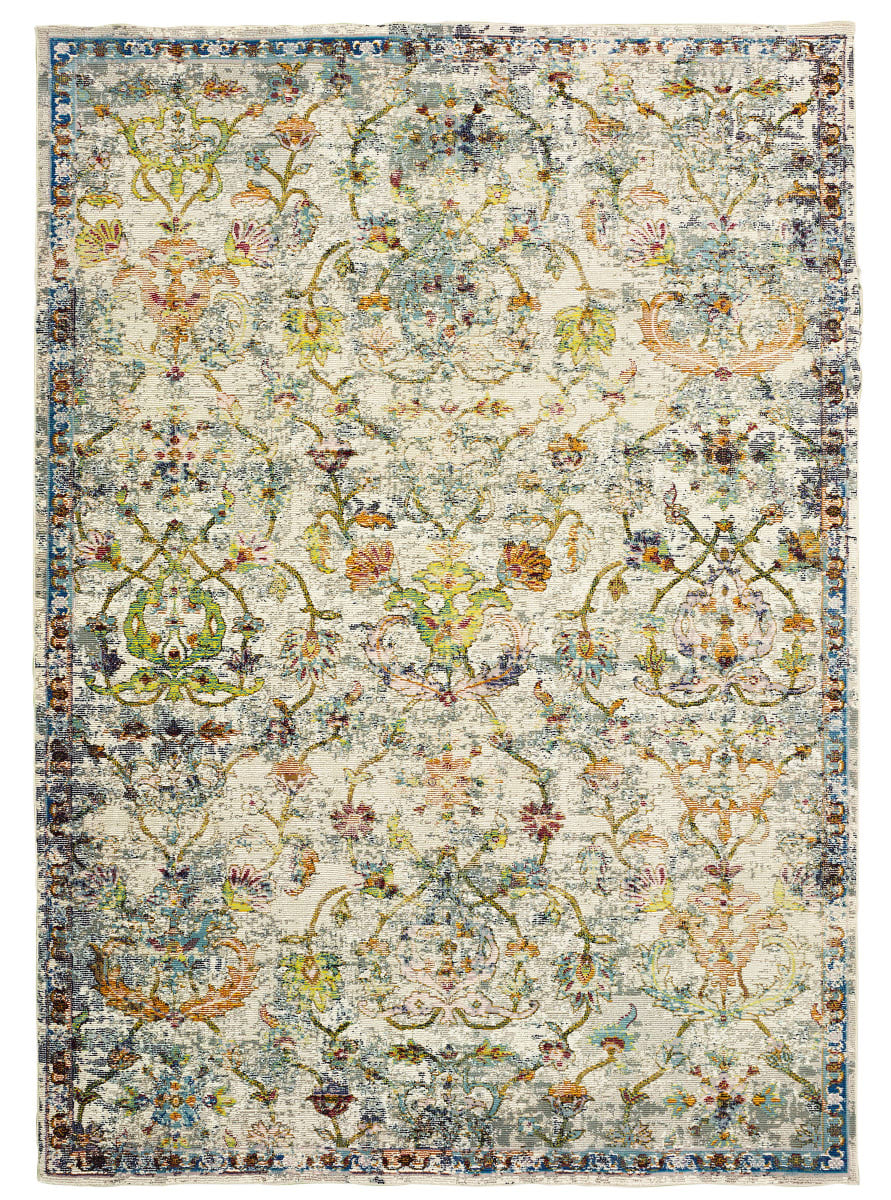 Lr Resources Gala 81271 Green Multi Rug Studio