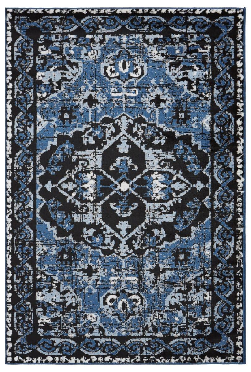Lr Resources Infinity 81316 Black   Sky Blue   Rug Studio