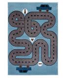 Lr Resources Whimsical 81266 Slate Blue - Light Blue Area Rug