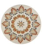 Lr Resources Dazzle 54096 Cream - Rust Area Rug