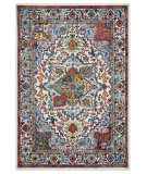 Lr Resources Fusion 81346 White - Blue Area Rug