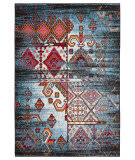 Lr Resources Fusion 81349 Blue - Black Area Rug