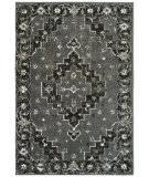 Lr Resources Infinity 81310 Titanium - Black Area Rug