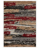 Lr Resources Infinity 81311 Anthra - Burgundy Area Rug