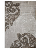 Lr Resources Infinity 81315 Light Beige - White Area Rug