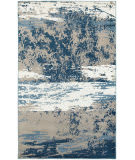 Lr Resources Matrix 81201 Light Beige - Soft Blue Area Rug