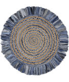 Lr Resources Natural Fiber 3348 Denim Blue - Natural Area Rug