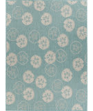 Lr Resources Sanibel 81655 Teal - Cream Area Rug