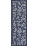 Lr Resources Global Goods 5243 Ivory - Indigo - Navy Area Rug