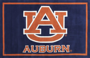 Luxury Sports Rugs Team Auburn University Blue Area Rug