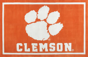 Luxury Sports Rugs Tufted Clemson University Orange