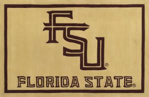 Luxury Sports Rugs Team Florida State University Gold Area Rug