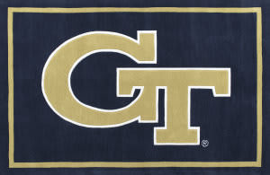 Luxury Sports Rugs Tufted Georgia Tech Navy
