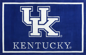 Luxury Sports Rugs Team University of Kentucky Blue Area Rug