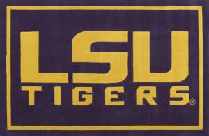 Luxury Sports Rugs Tufted LSU Purple Area Rug