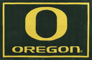 Luxury Sports Rugs Tufted University of Oregon Green