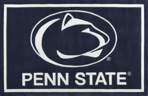 Luxury Sports Rugs Tufted Penn State University Navy