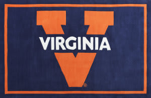 Luxury Sports Rugs Tufted University of Virginia Blue
