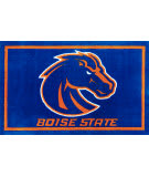 Luxury Sports Rugs Team Boise State University Blue Area Rug