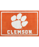 Luxury Sports Rugs Team Clemson University Orange Area Rug