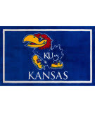 Luxury Sports Rugs Team University Of Kansas Blue Area Rug