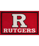 Luxury Sports Rugs Team Rutgers University Red Area Rug