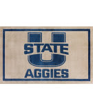 Luxury Sports Rugs Team Utah State University Pewter Area Rug