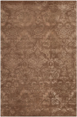 Martha Stewart Damask MSR3124C BROWN Area Rug