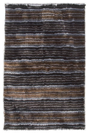 MAT The Basics Delhi Black/Silver Area Rug
