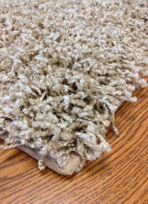Mayberry Rugs Super Shag Cloud Beige Area Rug