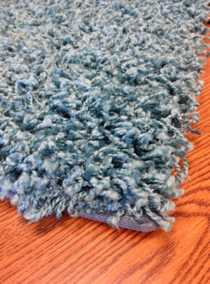 Mayberry Rugs Super Shag Cloud Bright Teal Area Rug