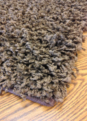 Mayberry Rugs Super Shag Cloud Chocolate Area Rug