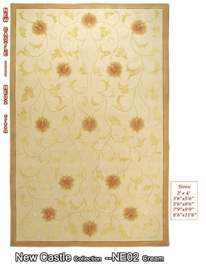 MER New Castle NE02 Cream Area Rug
