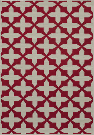 Momeni Baja Baj12 Red Area Rug