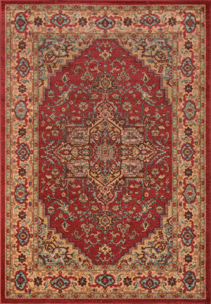 Momeni Ghazni Gz-04 Red Area Rug