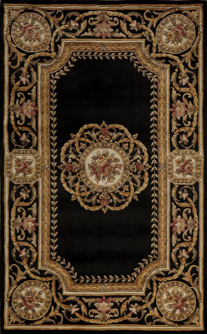 Momeni Harmony Ha-12 Black Area Rug
