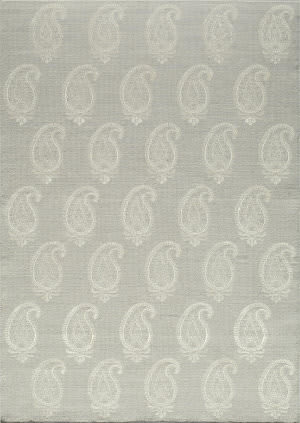 Momeni Lace Embroided Lac-1 Silver Area Rug