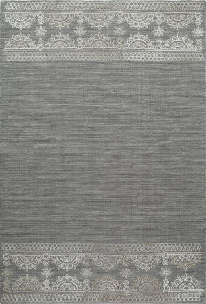 Momeni Lace Embroided Lac-2 Grey Area Rug